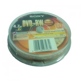 SONY MEDIA DVD-R IN JEWEL CASE - 10PCS