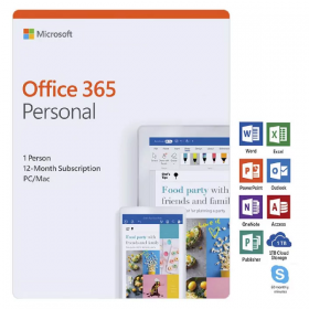 MS.O365 PERSONAL P4 MAC/WIN EN APAC EM MEDIALESS
