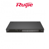 RUIJIE UNMANAGED SWITCH, 24 GE POE+ PORT + 2 SFP (NON COMBO), POE POWER BUDGET 180W