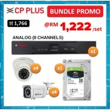 BUNDLE PROMO (ANALOG) - CP PLUS ASTRA DVR 1 SATA 1080P 8CH + ASTRA HD CAMERA 2.4MP IR DOME 3.6MM + HD CAMERA 2.4MP VF BULLET + 2TB HDD