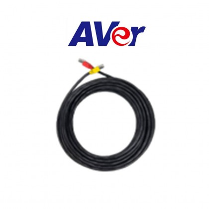 AVER ACC SPEAKERPHONE TO SPEAKERPHONE CABLE WITH EMI CORE (RED TO YELLOW), 20M