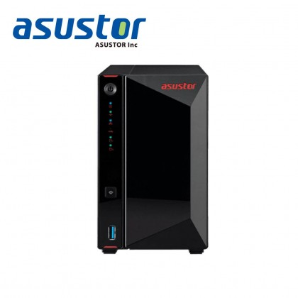 ASUSTOR AS5202T/ DC 2.0 GHZ/ 2GB DDR4 /  2 BAY / 2 x 2.5G LAN Port/ 3 USB 3/ 1 HDMI