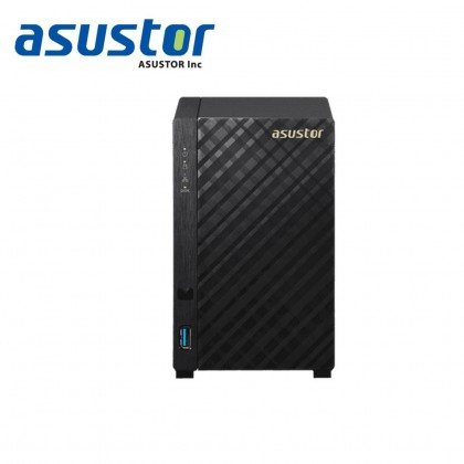 ASUSTOR AS1002T v2 / DC 1.6 GHZ/ 512MB DDR3 /  2 BAY/ 1 x 1G LAN Port/ 2 USB 3