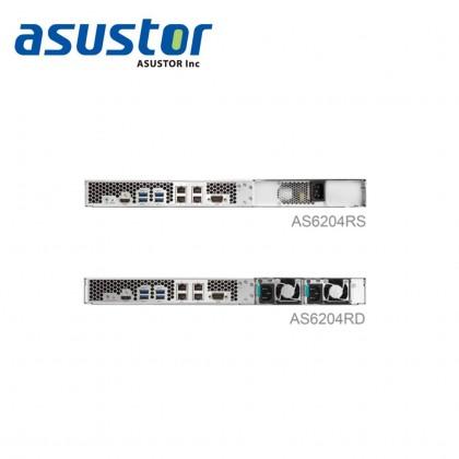 ASUSTOR AS6204RS / QC 1.6 GHZ/ 2GB DDR4 /  4 BAY / 4 x 1G LAN Port/ 1 X 10G LAN PORT/ 4 USB 3