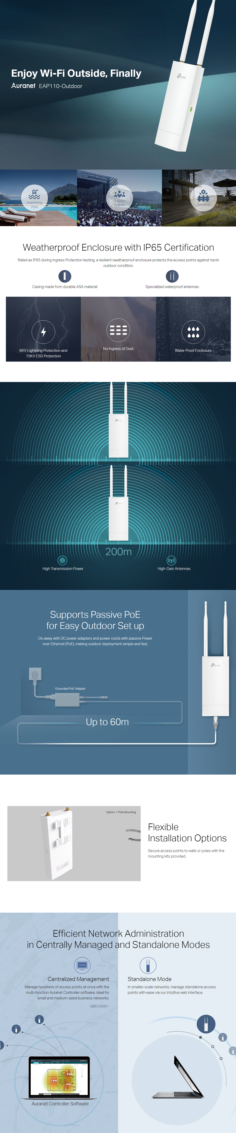 TPLINK INDOOR WIFI 300Mbps WIRELESS N OUTDOOR ACCESS POINT